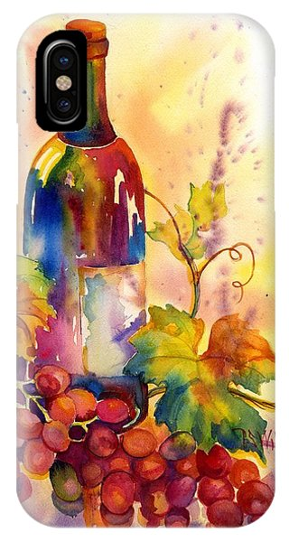 Green Grape iPhone Case - Watercolor Wine by Peggy Wilson