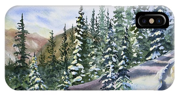 Watercolor - Winter Snow-covered Landscape IPhone Case