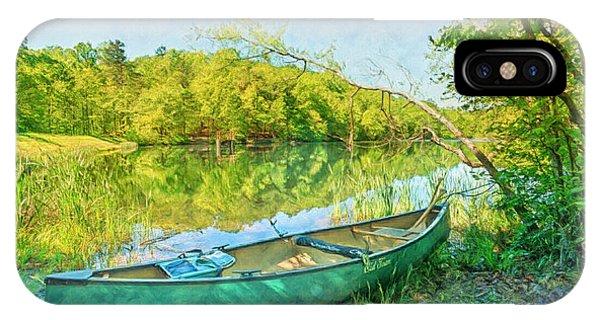 Chilhowee iPhone Case - Watercolors At The Lake by Debra and Dave Vanderlaan