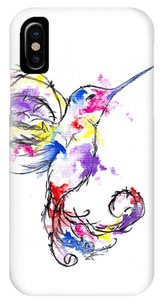 Watercolour Hummingbird IPhone Case