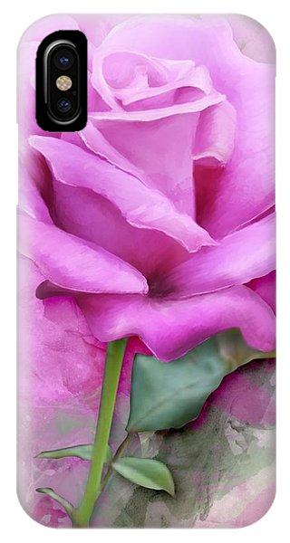 Watercolour Pastel Lilac Rose IPhone Case