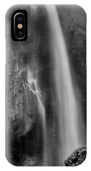 Waterfall 5830 B/w IPhone Case