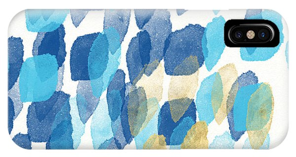 Aqua iPhone Case - Waterfall- Abstract Art By Linda Woods by Linda Woods