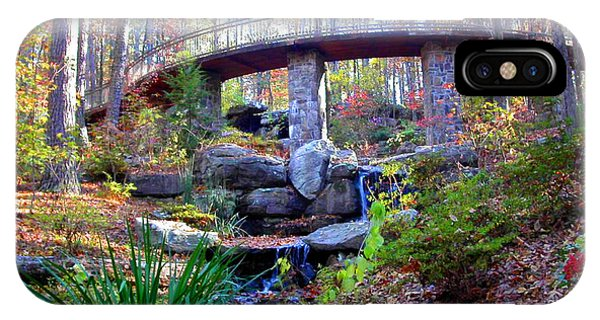 Waterfall And A Bridge In The Fall IPhone Case