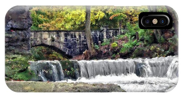 Waterfall At Olmsted Falls - 1 IPhone Case
