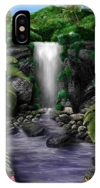 IPhone Case featuring the digital art Waterfall Creek by Mark Taylor