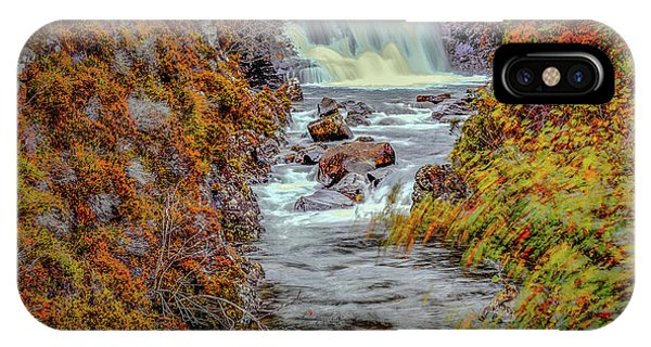 IPhone Case featuring the photograph Waterfall #g8 by Leif Sohlman