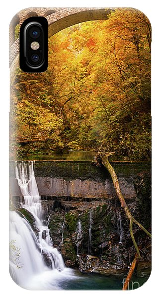 IPhone Case featuring the photograph Waterfall In An Autumn Canyon by IPics Photography
