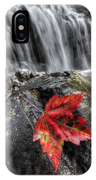Waterfall In Fall IPhone Case