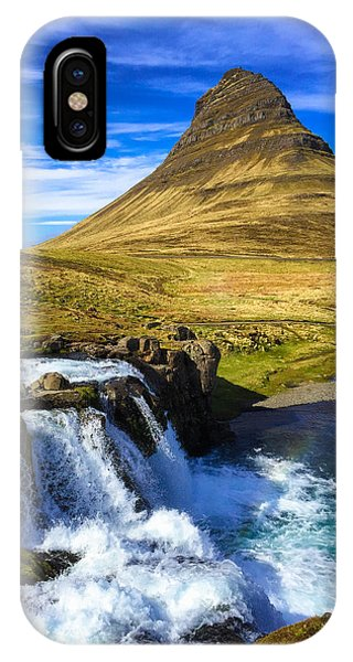Amazing iPhone Case - Waterfall In Iceland Kirkjufellfoss by Matthias Hauser