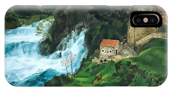 Waterfall In Krka IPhone Case