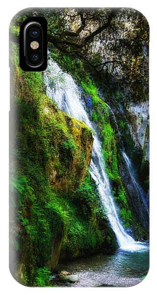 Waterfall In Spring IPhone Case