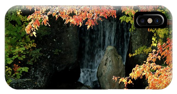 Waterfall In The Garden IPhone Case