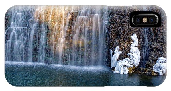 Waterfall In Winter IPhone Case