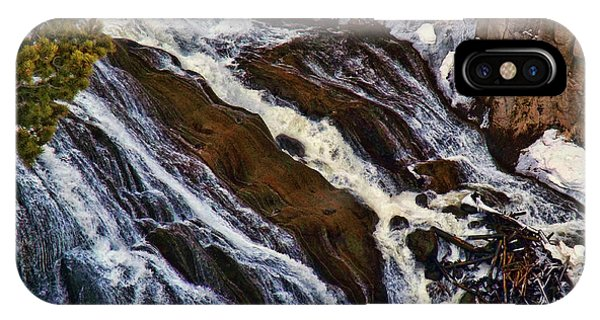 Waterfall In Yellowstone IPhone Case