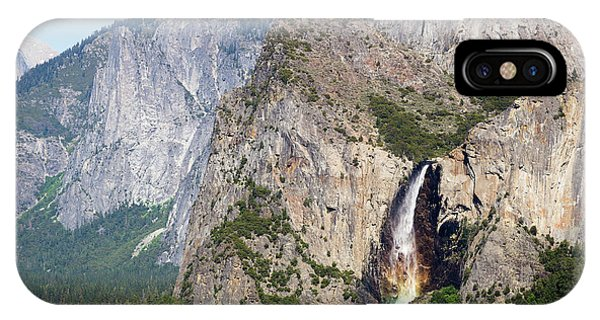 Waterfall In Yosemite National Park IPhone Case