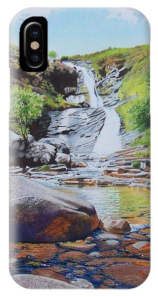 Waterfall On Skye 2 IPhone Case