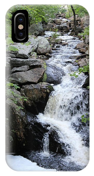 Waterfall Pillsbury State Park IPhone Case