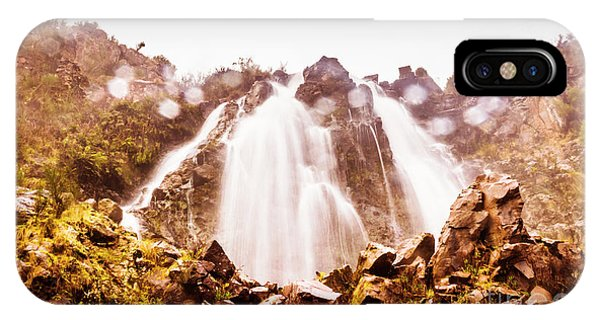 Boulder iPhone Case - Waterfall Scenics  by Jorgo Photography - Wall Art Gallery