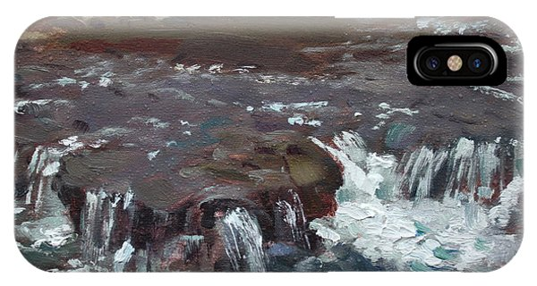 Sister iPhone Case - Waterfalls At Three Sisters Islands by Ylli Haruni