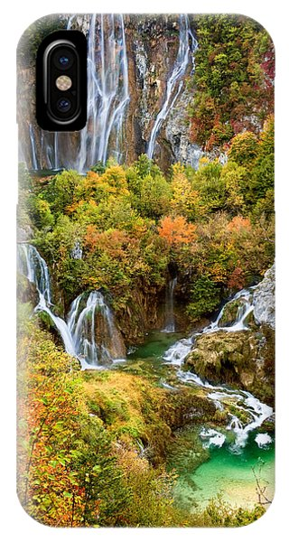 Waterfalls In Plitvice Lakes National Park IPhone Case