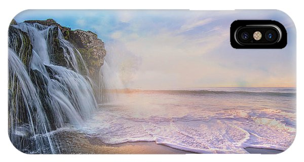 Waterfalls Into The Ocean IPhone Case