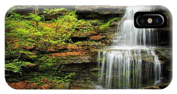 Waterfalls On Little Three Mile Run IPhone Case