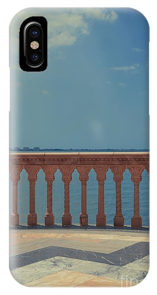 Oceanfront iPhone Case - Waterfront Balcony Ringling Ca D Zan The Last Of The Gilded Mansions by Edward Fielding