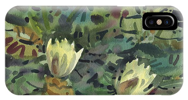 Lillie iPhone Case - Waterlilies by Donald Maier