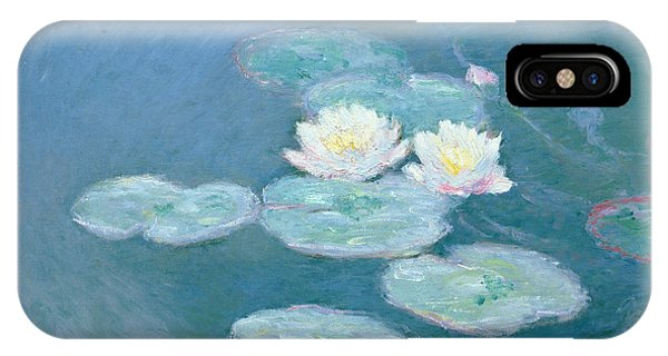 Impressionism iPhone X Case - Waterlilies Evening by Claude Monet