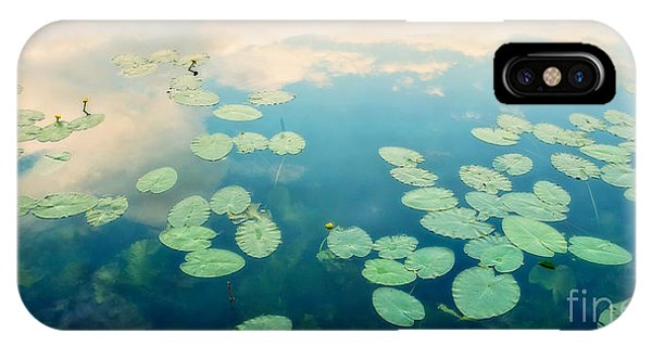 Waterlily iPhone Case - Waterlilies Home by Priska Wettstein
