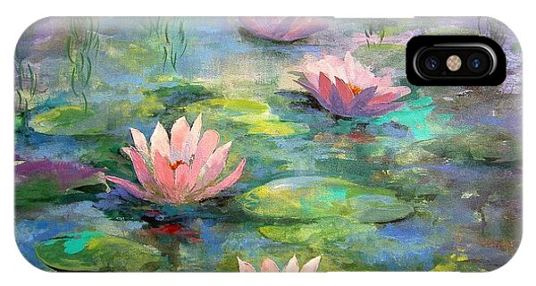 Waterlily iPhone Case - Waterlilies by Madeleine Holzberg