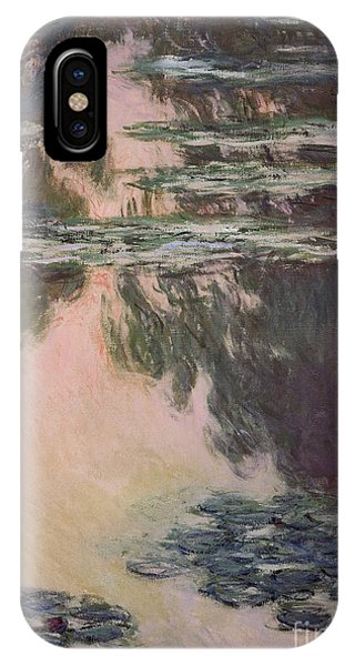 Waterlilies With Weeping Willows IPhone Case