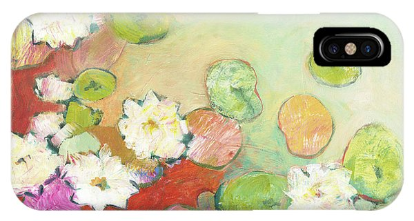 Lilly iPhone Case - Waterlillies At Dusk No 2 by Jennifer Lommers