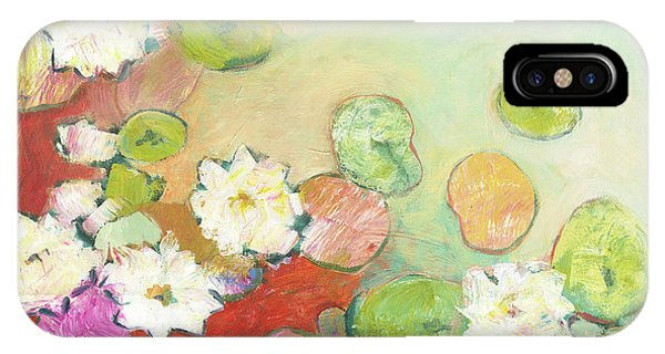 Impressionism iPhone Case - Waterlillies At Dusk No 2 by Jennifer Lommers