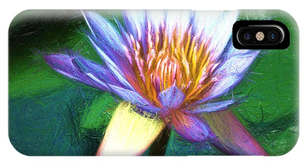 Waterlily Sketch IPhone Case