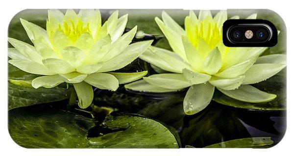 Waterlily Duet IPhone Case