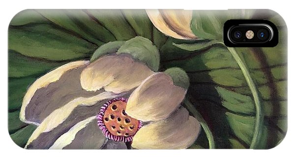 Waterlily Like A Clock IPhone Case