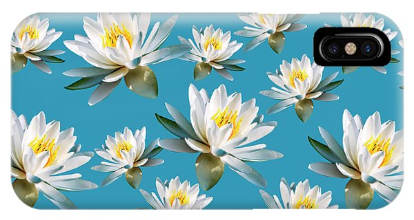 Waterlily Pattern IPhone Case