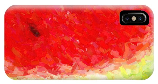 Wingsdomain iPhone Case - Watermelon With Three Seeds by Wingsdomain Art and Photography