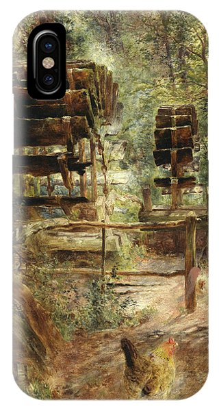 Barnyard iPhone Case - Watermill At Rossett, North Wales by William Huggins