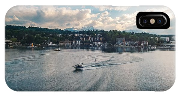 Water Ski iPhone Case - Waterskiing In Velden Am Worthersee by Chris Thodd