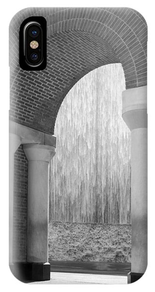 Waterwall And Arch 3 In Black And White IPhone Case