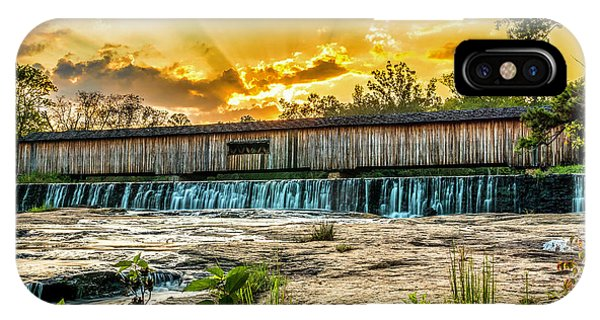 IPhone Case featuring the photograph Watson Mill Covered Bridge by Michael Sussman