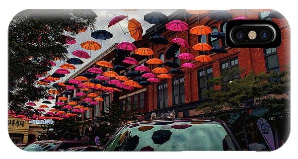 Wausau's Downtown Umbrellas IPhone Case