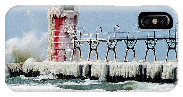 Desolation iPhone Case - Wave Crashing On Snow-covered South by Panoramic Images