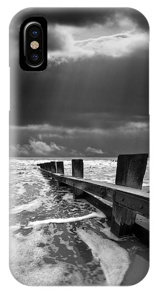 Mono iPhone Case - Wave Defenses by Meirion Matthias