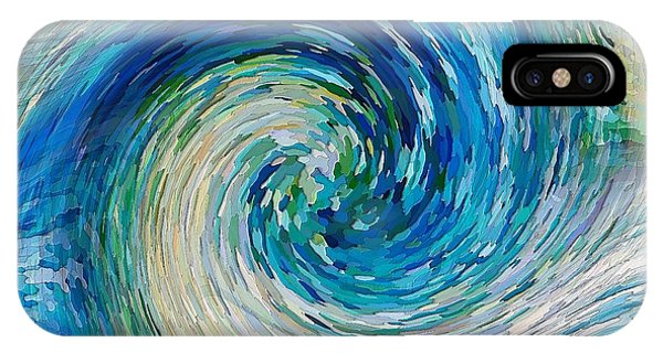 IPhone Case featuring the digital art Wave To Van Gogh II by David Manlove