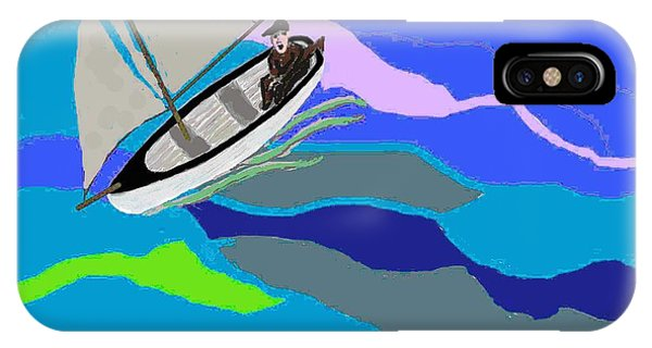 Wave Tossed Boat IPhone Case