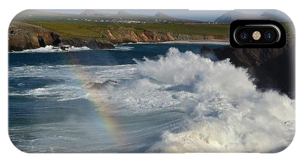 Waves And Rainbow At Clogher IPhone Case